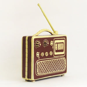 Little Radio Box Brown Yellow
