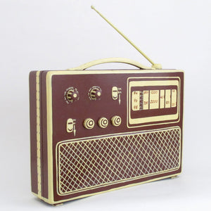 Big Radio Box Brown Yellow