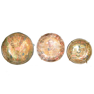 Band Decoupage Dishes Set Of 3