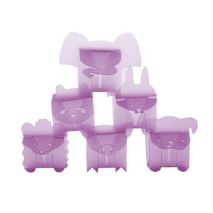 Animal Napkin Ring Violet 12 PK