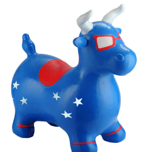 Benny The Jumping Bull Blue