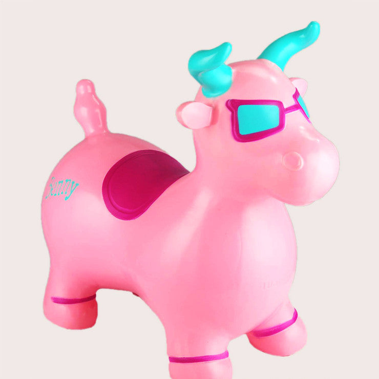 Benny The Jumping Bull Pink