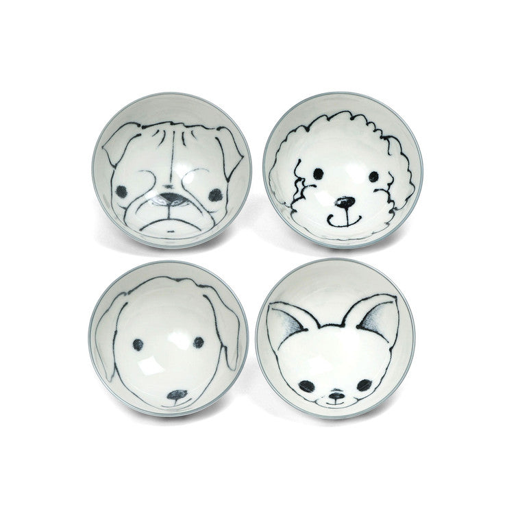 Dog Days Rice Bowl Set Of 4