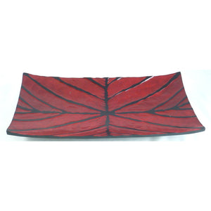 Carved Rectangle Tray Cherry