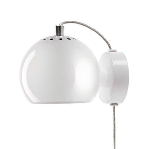 Ball Magnet Wall Lamp White