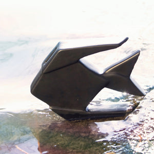 Fish Origami Bank Saver Black
