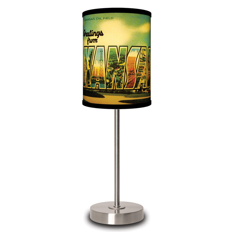 Kansas Postcard Lamp