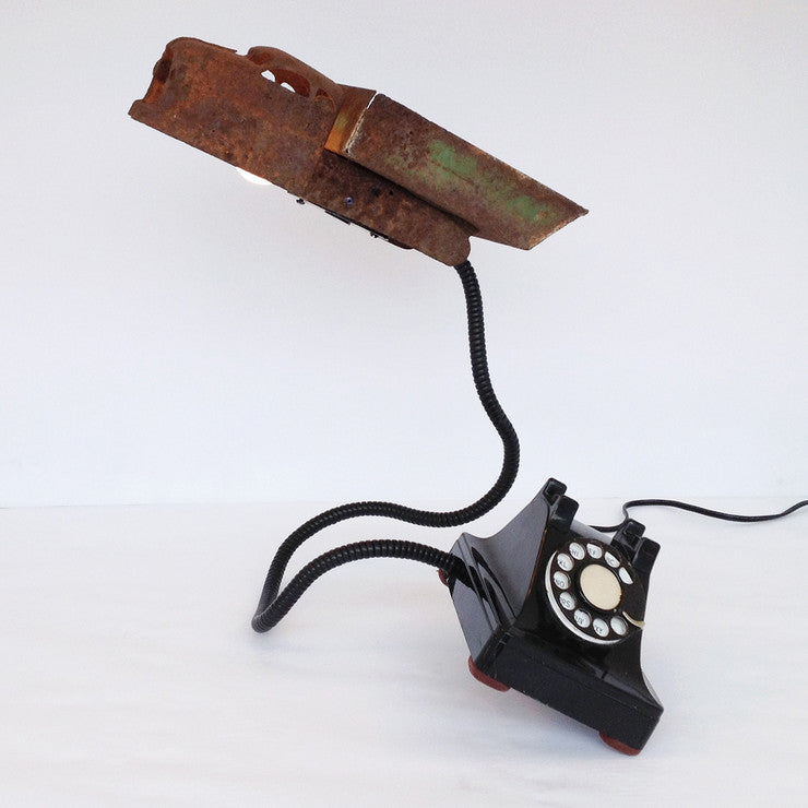 Vintage Mobile Phone In Motion