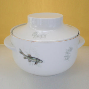 Modern Porcelain Fish Tureen