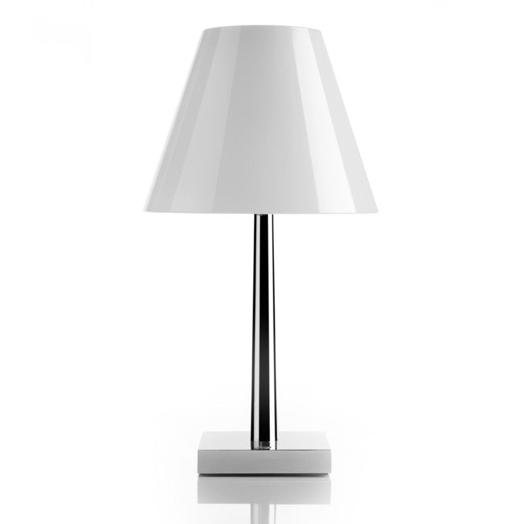Dina Table Lamp Chrome White