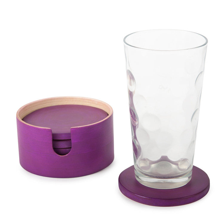 7 Piece Coaster Set Lilac