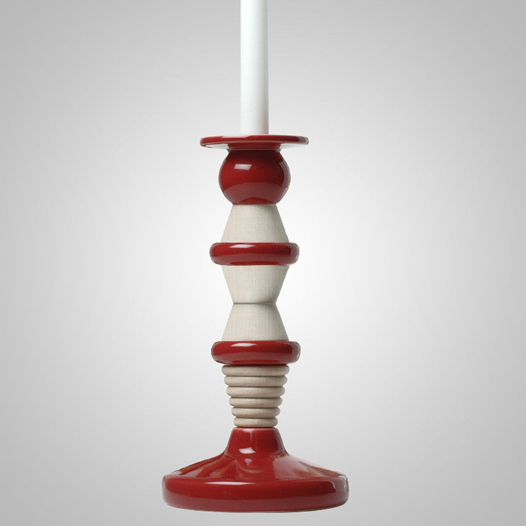 Candle Holder Large Red