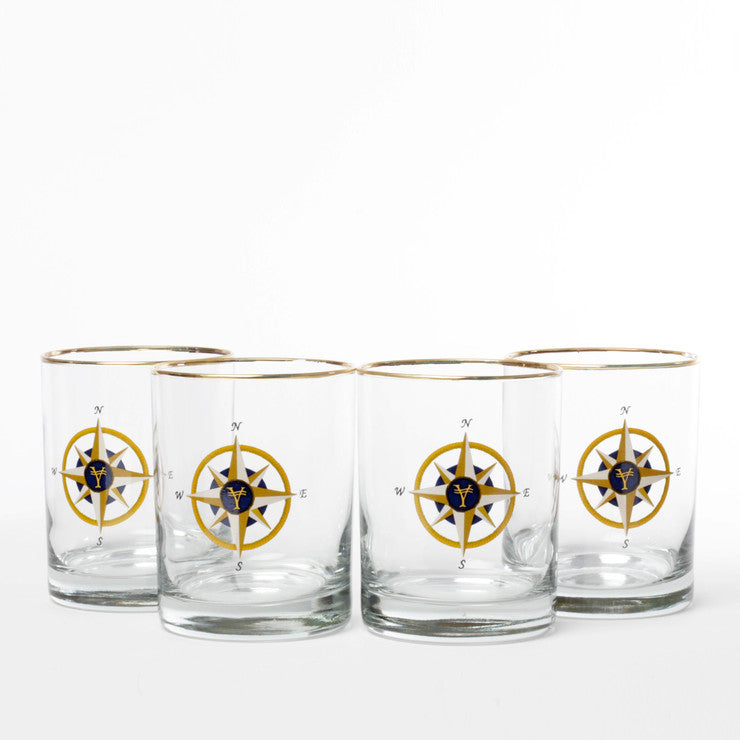 Compass Rose DOF Set Of 4