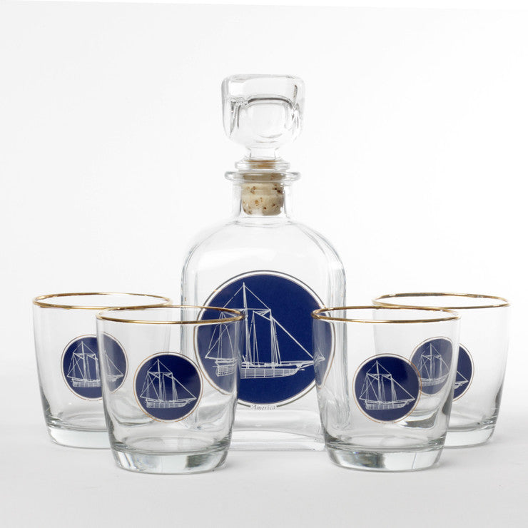 Nautical Decanter 5 Piece Set