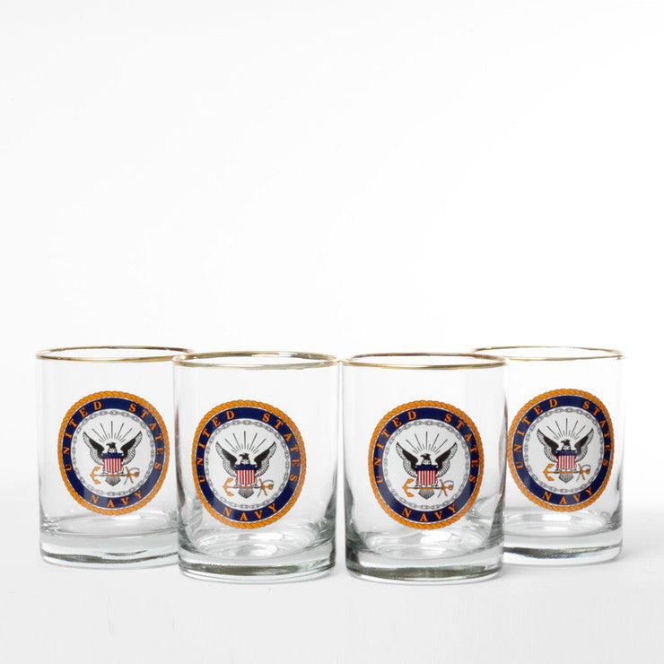Navy Double Old Fashioned 4pc