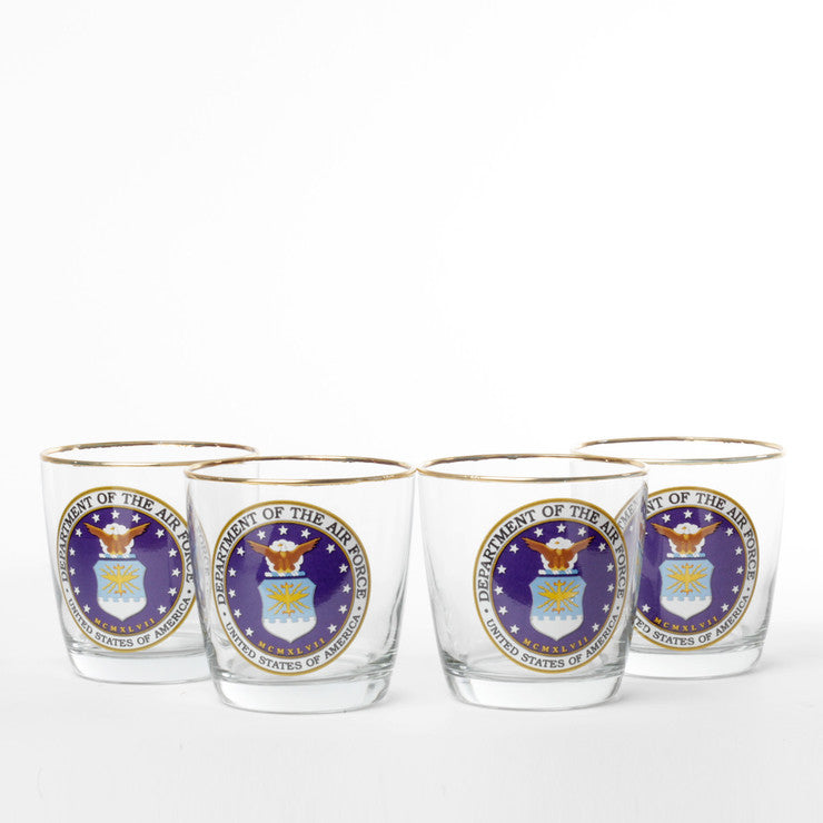 Air Force Old Fashioned Set Of 4