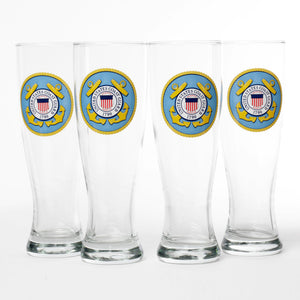 Coast Guard Pilsner Glass 4pc