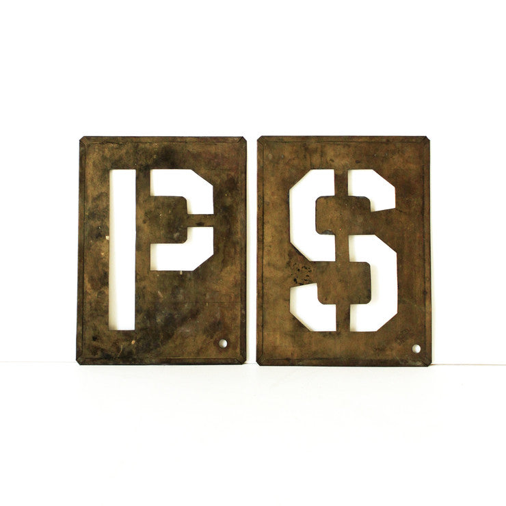 Large Brass Stencil Set PS