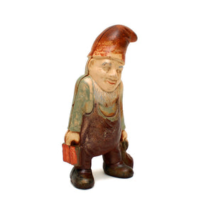 Cast Iron Gnome Bank