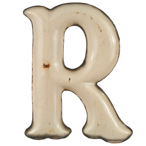 "9\ Porcelain Enamel Sign ""R\"""""