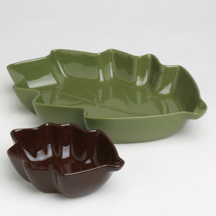 Fall Leaf Nested Bowls Set Of 2