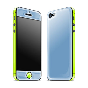 iPhone 5 Glow Gel Blue Yellow