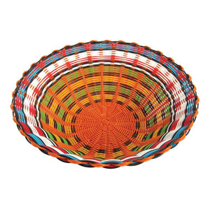 Cable Woven Bowl Orange/White