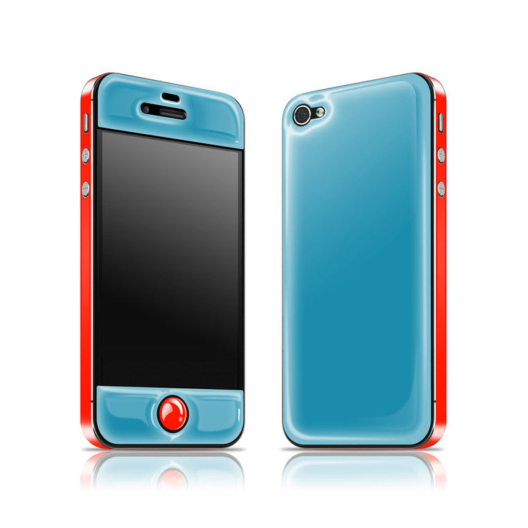 iPhone 4/4S Glow Gel Blue Red