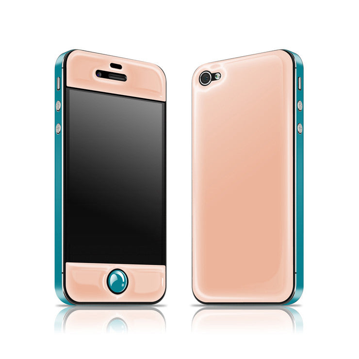 iPhone 4/4S Glow Gel Peach Teal