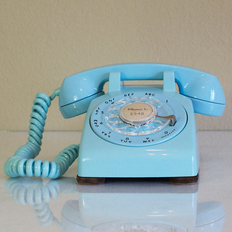 1958 Desk Phone Light Blue