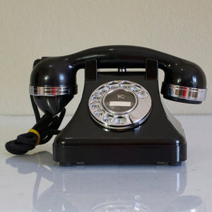 '30s Bakelite Phone Black
