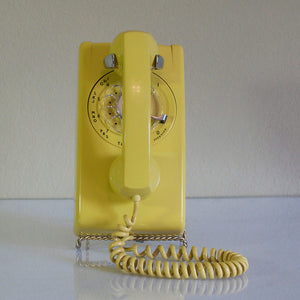 Dial Wall Telephone Yellow
