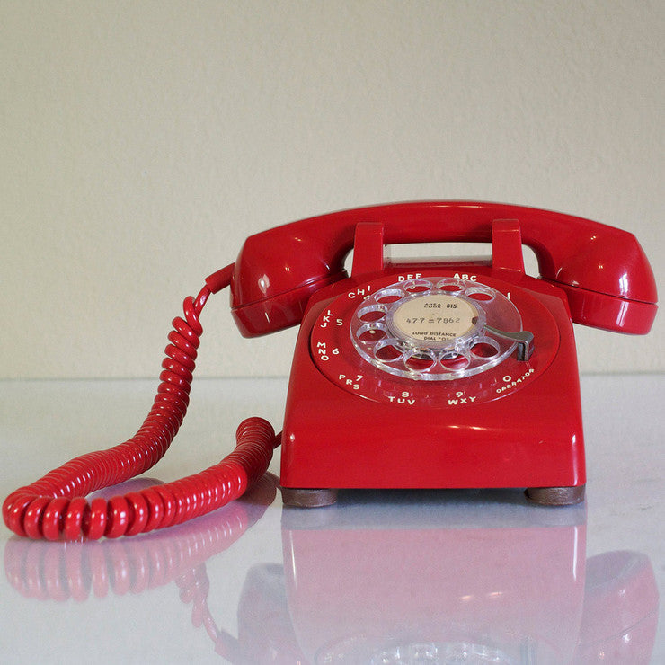 Dial Telephone Red