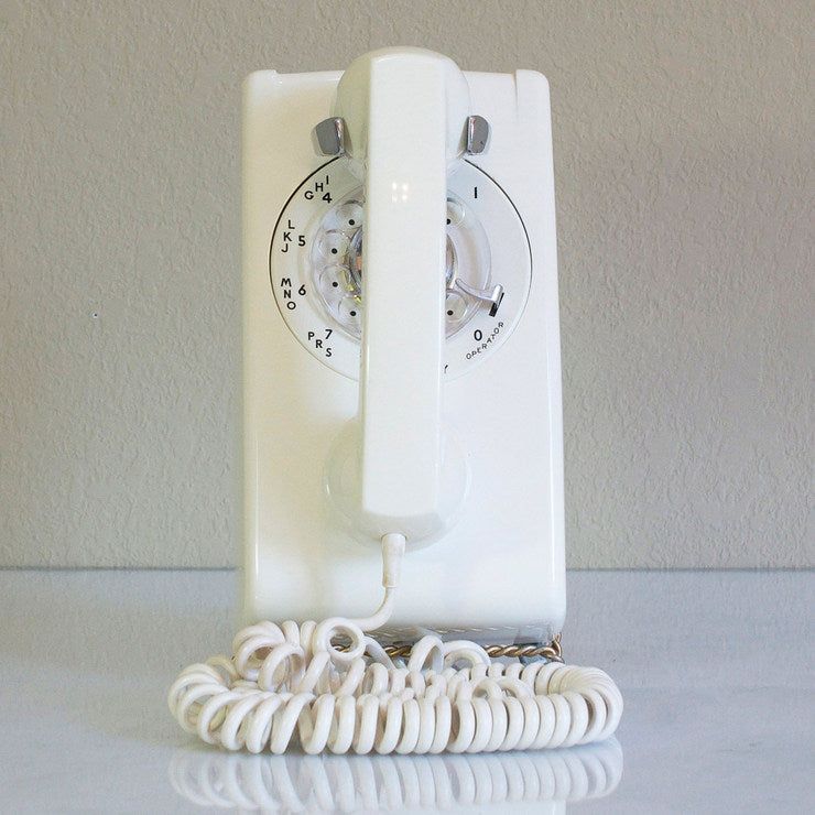 1963 Wall Phone White