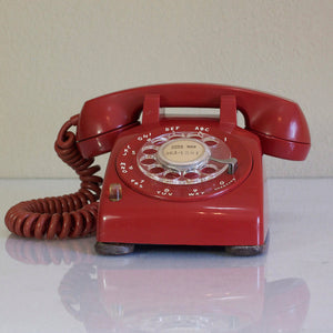 1957 Desk Phone Red
