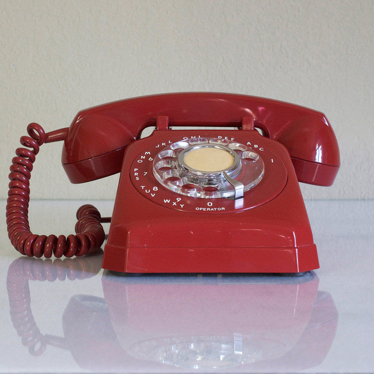 '50s Cut Corner Phone Red