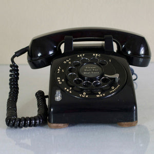 1957 Desk Phone Black
