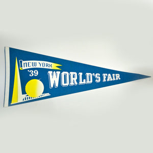1939 World's Fair Pennant Blue
