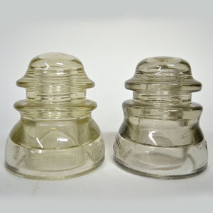 Glass Insulators Pair