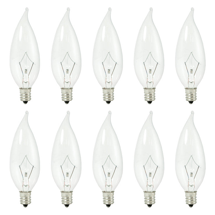 Flame Tip Incandescent 10 Pk