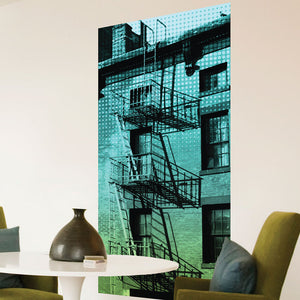 Fire Escape Canvas Wall Art
