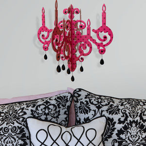 Dot 3D Faux Chandelier Pink