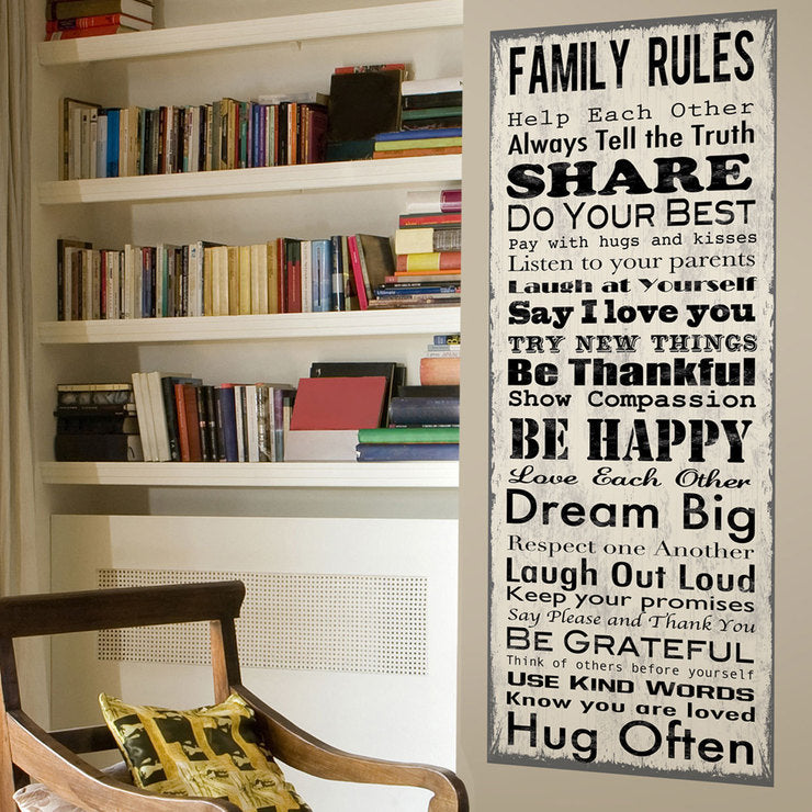 Rules Wall Decal Banner