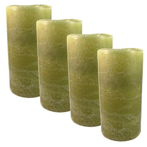 Flameless Candle 6\ Green 4 Pk""