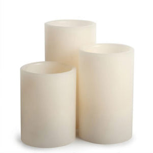 Flameless Candle Set Of 3 Ivory