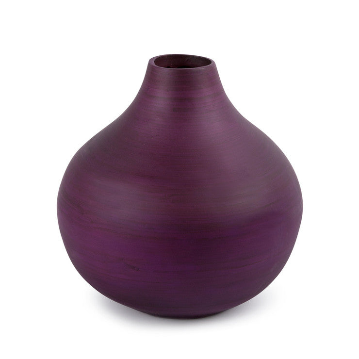 "Classic Bamboo Vase 11"" Lilac"