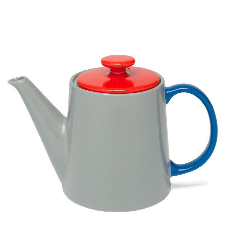 My Teapot Gray Red Blue