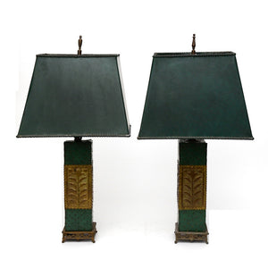 Arts & Crafts Style Lamps Pair