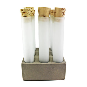 Concrete Spice Tube Set Gray