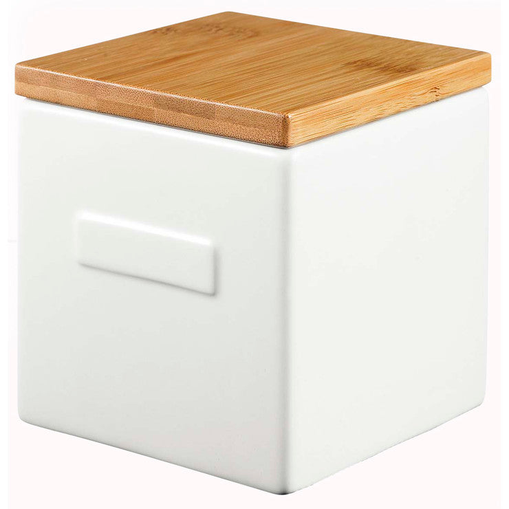 Box White With Bamboo Lid